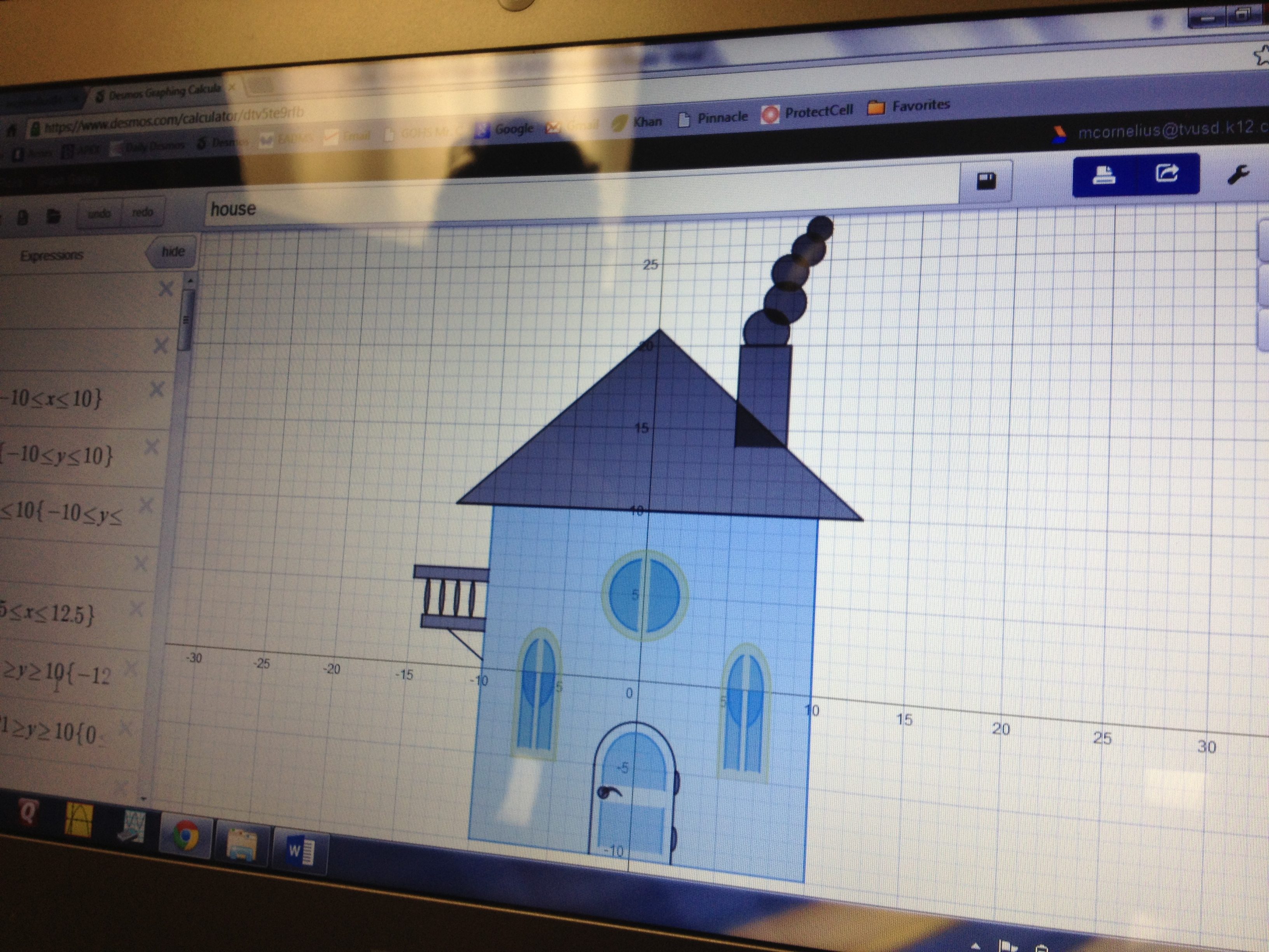 Mr cornelius desmos lesson the math projects journal Calculator to build a house